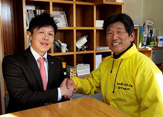 (左から)齋藤幸一氏 齋藤秀夫氏